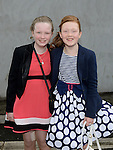 Alanah Quaile and Kelsey Murphy who were confirmed at the Church of Mary Immaculate Collon. Photo:Colin Bell/pressphotos.ie