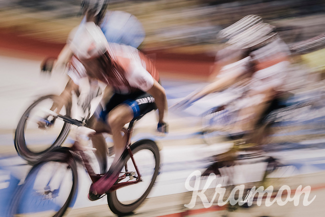 speeding at the 'Kuipke' velodrome<br /> <br /> Ghent 6day<br /> Belgium 2017