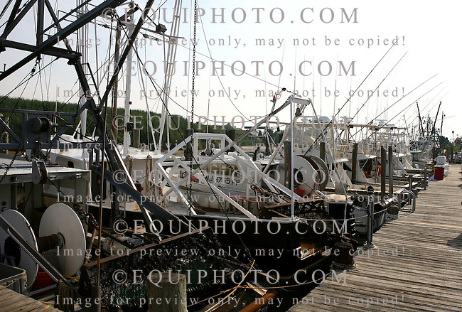 Lobster boats docked in Point Pleasant, New Jersey. Photo By Bill Denver/EQUI-PHOTO