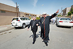 Archbishop Bashar Matti Warda (left) walks with Cardinal Timothy Dolan, the archbishop of New York, in Ankawa, Iraq, on April 9, 2016. Dolan, chair of the Catholic Near East Welfare Association, was in Iraqi Kurdistan with other church leaders to visit with Christians and others displaced by ISIS. Warda heads the Chaldean Catholic Archdiocese of Erbil, and has been a staunch champion for displaced Christians and others living in his archdiocese.