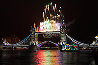 Tower Bridge during the London 2012 Olympics