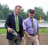 NSA Starter Barry Watson and NYRA judge Neal Cutrone at Saratoga.