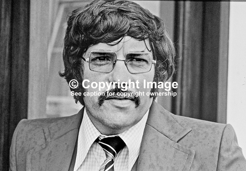 Andy Tyrie, head of the UDA (Ulster Defence Association), Belfast, N Ireland. Ref: 197908000082M...Copyright Image from Victor Patterson, 54 Dorchester Park, Belfast, UK, BT9 6RJ..Tel: +44 28 9066 1296.Mob: +44 7802 353836.Voicemail +44 20 8816 7153.Skype: victorpattersonbelfast.Email: victorpatterson@mac.com.Email: victorpatterson@ireland.com (back-up)..IMPORTANT: If you wish to use this image or any other of my images please go to www.victorpatterson.com and click on the Terms & Conditions. Then contact me by email or phone with the reference number(s) of the image(s) concerned.