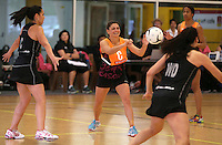 14.10.2014 Ex Silver Ferns Temepara Bailey in action at the Silver Ferns Training ahead of their netball test match in Auckland tomorrow night. Mandatory Photo Credit ©Michael Bradley.