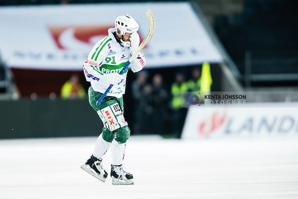 Solna 2014-03-16 Bandy SM-final herrar Sandvikens AIK - V&auml;ster&aring;s SK :  <br /> V&auml;ster&aring;s Johan Esplund deppar<br /> (Foto: Kenta J&ouml;nsson) Nyckelord:  SM SM-final final herr herrar VSK V&auml;ster&aring;s SAIK Sandviken  depp besviken besvikelse sorg ledsen deppig nedst&auml;md uppgiven sad disappointment disappointed dejected