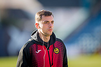 8th February 2020; Dens Park, Dundee, Scotland; Scottish Championship Football, Dundee versus Partick Thistle; Lee O'Connor of Partick Thistle inspects the pitch before the match