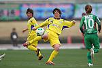 Chiho Takahashi (Charme), .MARCH 23, 2013 - Football /Soccer : .Plenus Nadeshiko League 2013 .between NTV Beleza 2-0 FC Kibikokusaidaigaku Charme .at Ajinomoto Stadium West Field, Tokyo, Japan. .(Photo by YUTAKA/AFLO SPORT) [1040]