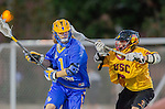 Los Angeles, CA 02/01/14 - Sam Simmons (UCSB #1) and Sean Digan (USC #6)