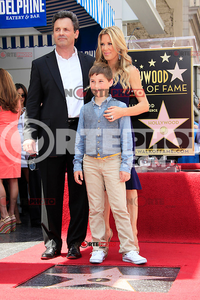 Ellen K is honored with the 2471st star on the Hollywood Walk of Fame. Los Angeles, California on 10.05.2012. PICTURED: Ellen K, husband Roy, son Calvin..Credit: Martin Smith/face to face /MediaPunch Inc. ***FOR USA ONLY***