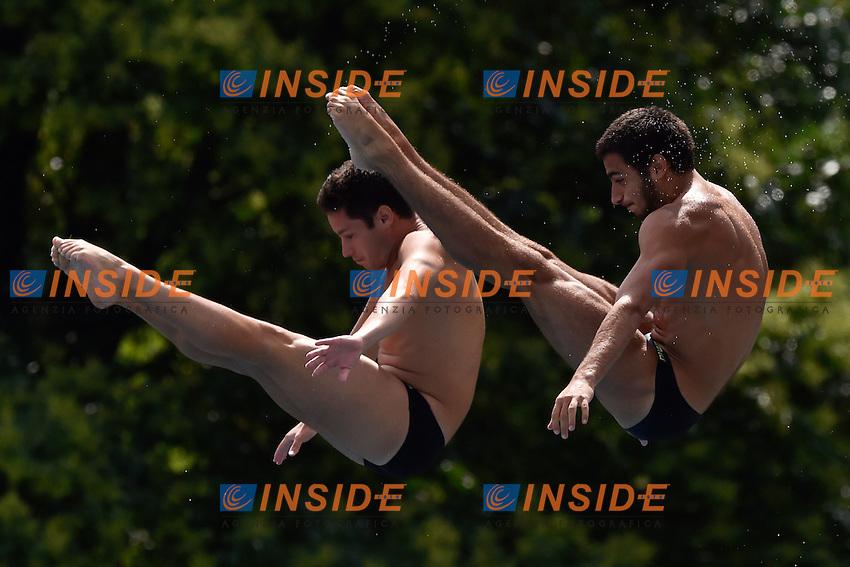 BILLI Andreas, TOCCI Giovanni Ita <br /> Synchronised Springboard 3m Final - Sincro Trampolino 3m Finale <br /> Bolzano 03-08-2014 <br /> 20 Fina Diving Grand Prix <br /> Photo Andrea Staccioli/Insidefoto