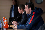 PSG coach Unai Emery during press conference the day before Champions League match between Real Madrid and PSG at Santiago Bernabeu Stadium in Madrid , Spain. February 13, 2018. (ALTERPHOTOS/Borja B.Hojas)