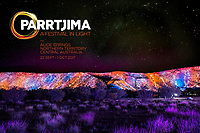 Parrtjima, light festival, Alice Springs, Australia - Opening Night Friday 23nd September 2016<br /> Photo - James Horan for AGB Events