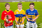 Robert O'Brien, Lixnaw Boys, 2nd, Padraig O'Sullivan, Ardfert, 1st, Aodhan Behan, Spa NS 3rd, Pictured at the Coiste Na Nóg Primary Schools hurling Skills finals at Austin Stack Park Tralee on Tuesday