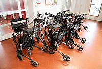 Nederland  Amsterdam  2017.  Woon- en zorgcentrum De Werf - Amsta. Rollators.  Foto Berlinda van Dam / Hollandse Hoogte