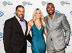 Darren Woodson, Kelly Kelly and David Otunga at the Time Warner Media Cabletime Upfront media event held at the Private Social Restaurant  in Dallas, Texas.