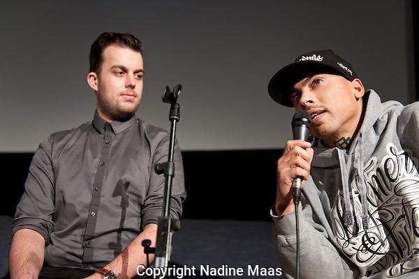 The Netherlands, Amsterdam, November 28, 2013. <br /> International Documentary Film Festival Amsterdam 2013. <br /> Coolpolitics Talk na Viva Cuba Libre: Rap Is War in de Munt 9.<br /> Photo: Nadine Maas