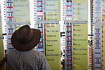 Betting ring at the annual Birdsville Cup horse races, held every September in the outback town of Birdsville, Queensland, Australia
