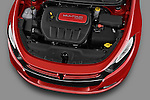 High angle engine photo of a 2013 Dodge Dart Rallye . sedan