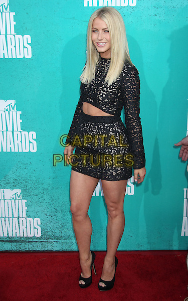 Julianne Hough.2012 MTV Movie Awards held at the Gibson Amphitheatre, Universal City, California, UA..June 3rd, 2012.full length black skirt lace top cropped  layered layers .CAP/ADM/RE.©Russ Elliot/AdMedia/Capital Pictures.