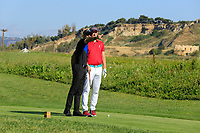 Alvaro Quiros (ESP) and his ProAm partner during the Pro-Am ahead of the Rocco Forte Sicilian Open played at Verdura Resort, Agrigento, Sicily, Italy 08/05/2018.<br /> Picture: Golffile | Phil Inglis<br /> <br /> <br /> All photo usage must carry mandatory copyright credit (&copy; Golffile | Phil Inglis)