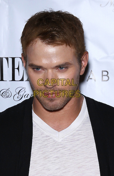 Kellan Lutz.Kellan Lutz celebrates Dylan George and Abbot+Main Spring 2012 collections at Chateau Nightclub inside Paris Las Vegas, Las Vegas, Nevada, USA..August 23rd, 2011.headshot portrait black white stubble facial hair .CAP/ADM/MJT.© MJT/AdMedia/Capital Pictures.