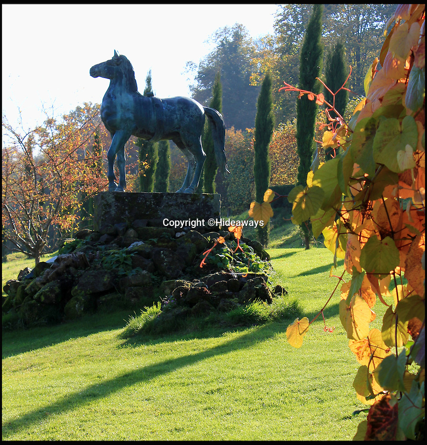 BNPS.co.uk (01202 558833)<br /> Pic: Hideaways/BNPS<br /> <br /> Stunning gardens include a life size bronze horse.<br /> <br /> You can now live like a king... but it will cost you £6,000 a week!<br /> <br /> This stunning historic house offers the ultimate 'Lord of the Manor' experience - but you'll need deep pockets to enjoy the life of luxury.<br /> <br /> The Grade II* listed King John's House has eight opulent bedrooms and exquisite period features dating back to medieval times, but staying there will set you back a whopping £5,682 per week.<br /> <br /> The site in Tollard Royal, Wiltshire, was once a Royal hunting lodge used by King John in the early 13th century but since the death of the last owner William Gronow Davis last year it has now become a very exclusive rental property for groups wanting to celebrate a milestone birthday or anniversary in style.