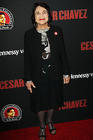 "HOLLYWOOD, LOS ANGELES, CA, USA - MARCH 20: Dolores Huerta at the Los Angeles Premiere Of Pantelion Films And Participant Media's ""Cesar Chavez"" held at TCL Chinese Theatre on March 20, 2014 in Hollywood, Los Angeles, California, United States. (Photo by Celebrity Monitor)"