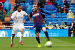 Levante UD's Carlos Clerc and Real Madrid CF's Lucas Vazquez during La Liga match. Aug 24, 2019. (ALTERPHOTOS/Manu R.B.)