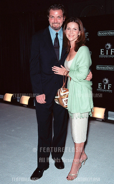 "07NOV99: Actress PERI GILPIN & husband at Beverly Hills' Rodeo Drive's ""Tribute to Style: Millennium Exhibition & Concert"" in aid of the Entertainment Industry Foundation..© Paul Smith / Featureflash"