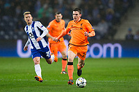 Liverpool's Andrew Robertson in action <br /> <br /> Photographer Craig Mercer/CameraSport<br /> <br /> UEFA Champions League Round of 16 First Leg - FC Porto v Liverpool - Wednesday 14th February 201 - Estadio do Dragao - Porto<br />  <br /> World Copyright &copy; 2018 CameraSport. All rights reserved. 43 Linden Ave. Countesthorpe. Leicester. England. LE8 5PG - Tel: +44 (0) 116 277 4147 - admin@camerasport.com - www.camerasport.com