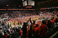 students  fans UVa beats Duke 68-66. Photo/Andrew Shurtleff