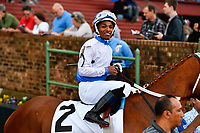 HOT SPRINGS, AR - APRIL 13:  Fantasy Stakes at Oaklawn Park on April 13, 2018 in Hot Springs, Arkansas. #2 Harbor Lights with jockey Ricardo Santana, Jr. (Photo by Ted McClenning/Eclipse Sportswire/Getty Images)