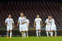 Esultanza Gol Henrikh MKHITARYAN Armenia (2R) 1-2 <br /> Goal celebration <br /> Napoli 15-10-2013 Stadio San Paolo <br /> Football Calcio Fifa World Cup 2014 Qualifiers <br /> Europe Group B <br /> Italia - Armenia <br /> Italy - Armenia <br /> Foto Andrea Staccioli Insidefoto