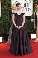 BEVERLY HILLS, CA - JANUARY 13: Lena Dunham at the 70th Annual Golden Globe Awards at the Beverly Hills Hilton Hotel in Beverly Hills, California. January 13, 2013. Credit: mpi29/MediaPunch Inc. /NortePhoto