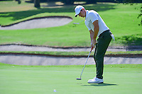 Rory McIlroy (NIR) sinks his putt on 1 during round 1 of the World Golf Championships, Mexico, Club De Golf Chapultepec, Mexico City, Mexico. 3/2/2017.<br /> Picture: Golffile | Ken Murray<br /> <br /> <br /> All photo usage must carry mandatory copyright credit (&copy; Golffile | Ken Murray)