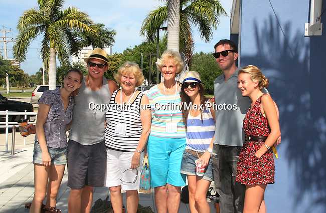 As The World Turns Marnie Schulenburg, Billy Magnussen, volunteers, Alexandra Chando, Tom Pelphrey, Meredith Hagner at the 12th Annual SoapFest - Painting Party to benefit Marco Island YMCA, theatre program & Art League of Marco Island on May 15, 2010 on Marco Island, FLA. (Photo by Sue Coflin/Max Photos)