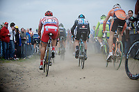 Paris-Roubaix 2012 ..charging after cornering
