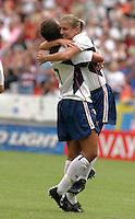 Tiffeny Milbrett and Shannon Boxx celebrate goal. 2003WWC USA v Sweden