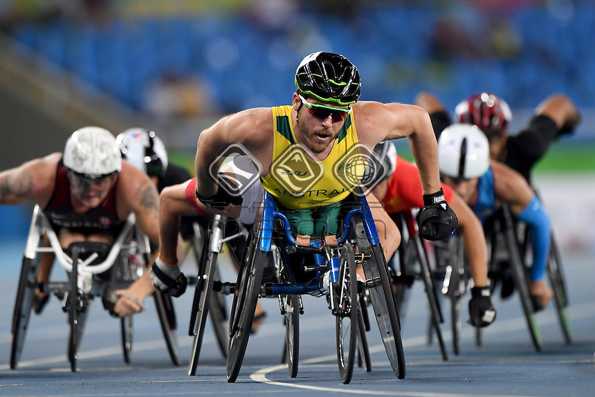 Kurt Fearnley &ndash; Men&rsquo;s 1500m T54<br /> Olympic Stadium / Day 5 Athletics<br /> 2016 Paralympic Games - RIO Brazil<br /> Australian Paralympic Committee<br /> Rio Brazil Monday 12  September 2016<br /> &copy; Sport the library / Jeff Crow