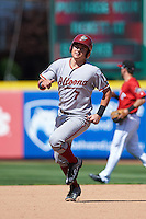 Altoona Curve catcher Reese McGuire (7) running the bases during a game against the Erie SeaWolves on July 10, 2016 at Jerry Uht Park in Erie, Pennsylvania.  Altoona defeated Erie 7-3.  (Mike Janes/Four Seam Images)