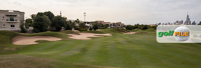 7th fairway at The Address Montgomerie Golf Club, Dubai, United Arab Emirates.  27/01/2016. Picture: Golffile | David Lloyd<br /> <br /> All photos usage must carry mandatory copyright credit (&copy; Golffile | David Lloyd)