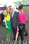 Sarah Tobin and Karyn Moriarty Pictured with Minister Jimmy Deenihan at Listowel Races on Friday.