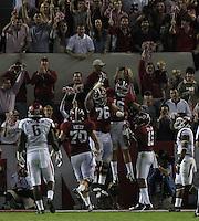 Arkansas Democrat-Gazette/BENJAMIN KRAIN --10/10/15--<br /> Alabama players celebrate a touchdown in the fourth quarter extending their lead over the Razorbacks