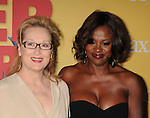 BEVERLY HILLS, CA - JUNE 12: Meryl Streep and Viola Davis arrive at the 2012 Women In Film Crystal + Lucy Awards at The Beverly Hilton Hotel on June 12, 2012 in Beverly Hills, California.