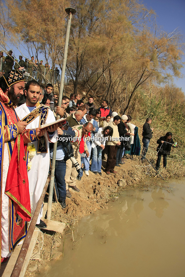 Jordan Valley, Qasr al Yahud. Syrian Orthodox Church celebrates the Feast of Theophany at the place of Jesus' baptism by John the Baptist