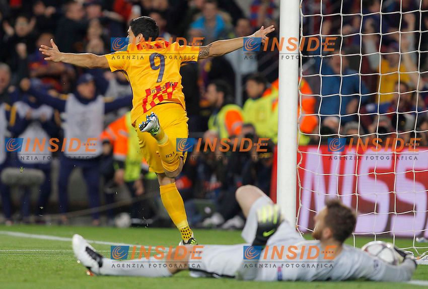 luis suarez (barca) joie<br />  <br /> Barcellona 05-04-2016 <br /> Football Calcio 2015/2016 Champions League <br /> Barcellona - Atletico Madrid Quarti di finale<br /> Foto Panoramic / Insidefoto <br /> ITALY ONLY