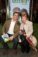 NO FEE PICTURES.1/5/12 Kenny Egan and mother Maura at the opening night of the world premiere of Fiona Looney's new play Greener at the Gaiety Theatre, Dublin. Picture:Arthur Carron/Collins