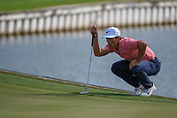 Thorbjorn Olesen (DEN) lines up his putt on 12 during day 3 of the WGC Dell Match Play, at the Austin Country Club, Austin, Texas, USA. 3/29/2019.<br /> Picture: Golffile | Ken Murray<br /> <br /> <br /> All photo usage must carry mandatory copyright credit (© Golffile | Ken Murray)