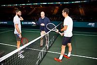 Rotterdam, The Netherlands, 12 Februari 2020, ABNAMRO World Tennis Tournament, Ahoy, Gilles Simon (FRA), Mikhail Kukushkin (KAZ).<br /> Photo: www.tennisimages.com