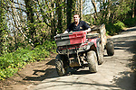 Man driving quad bike, Island of Herm, Channel Islands, Great Britain